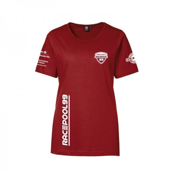 T-Shirt rot mit Logos Woman