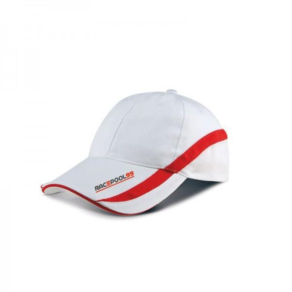 Cap weiß rot Unisize