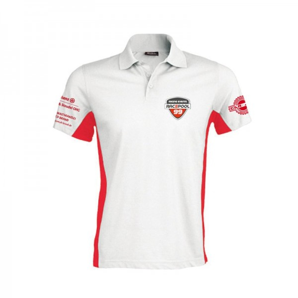 Polo Shirt weiß rot